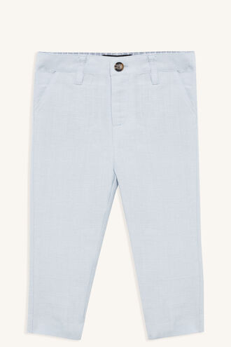 MILES LINEN PANT in colour ILLUSION BLUE