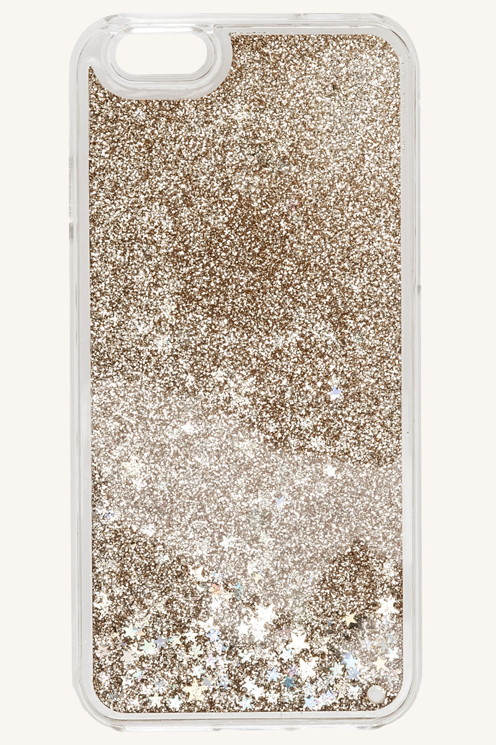 GLITTER PHONE COVER in colour GOLD EARTH