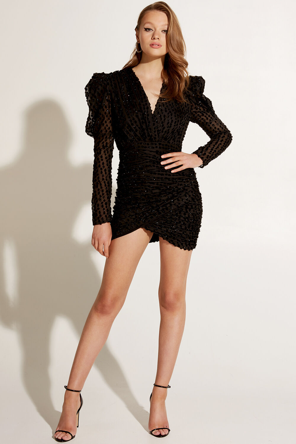 BREE MINI DRESS in colour CAVIAR