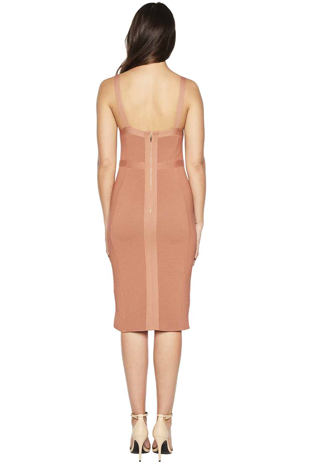 KATY KNIT DRESS in colour PRALINE