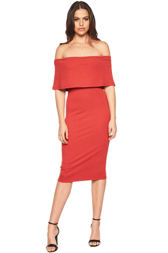 BELINDA DRESS in colour AMERICAN BEAUTY
