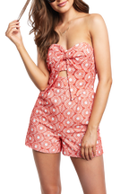 PALOMA PLAYSUIT in colour MANDARIN RED