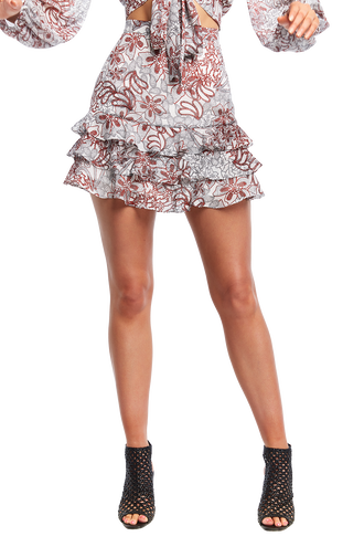 DITSY RAH RAH SKIRT in colour CLOUD DANCER