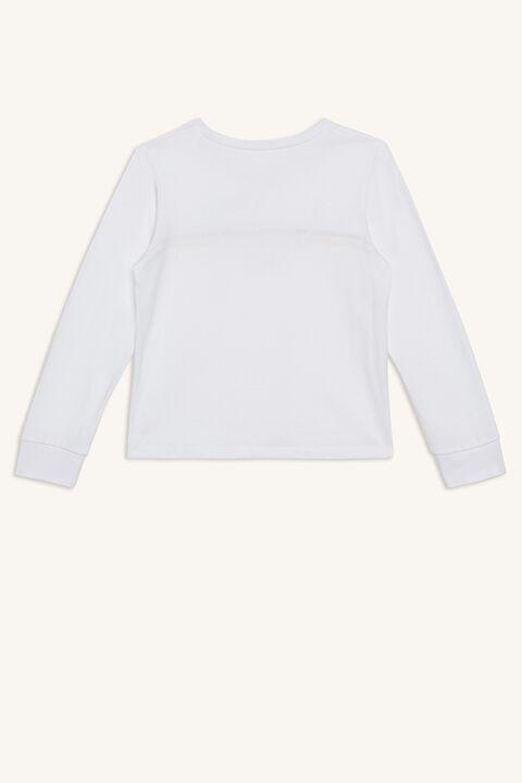 SAUVAGE L/S TEE in colour BRIGHT WHITE