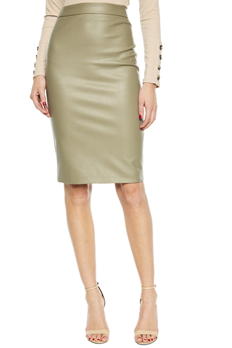 DONNA TUBE SKIRT in colour IVY GREEN