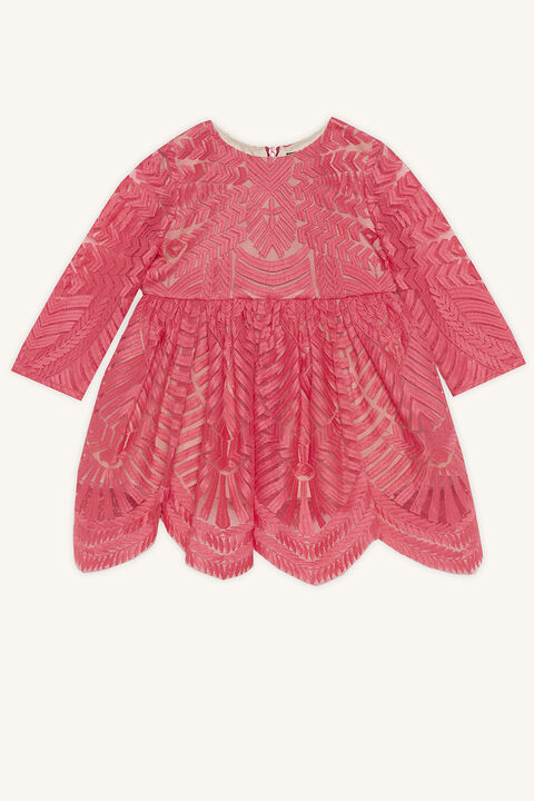 EMBROIDERED DRESS in colour PARADISE PINK