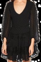 MAE LACE DRESS in colour CAVIAR