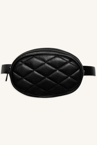 QUILTED BELT BAG in colour METEORITE