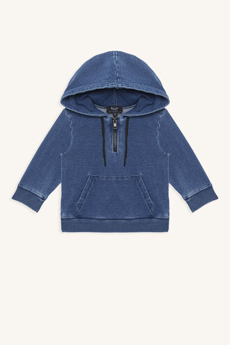 ZIP INDIGO HOODY in colour DRESS BLUES