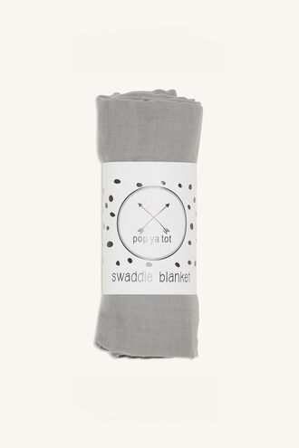 COTTON SWADDLE in colour LIGHT GRAY