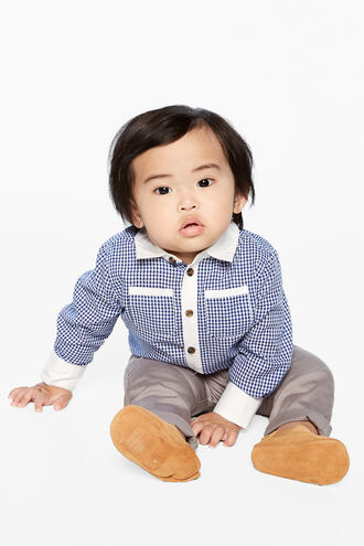 MICAH GINGHAM SHIRT in colour BLUE YONDER