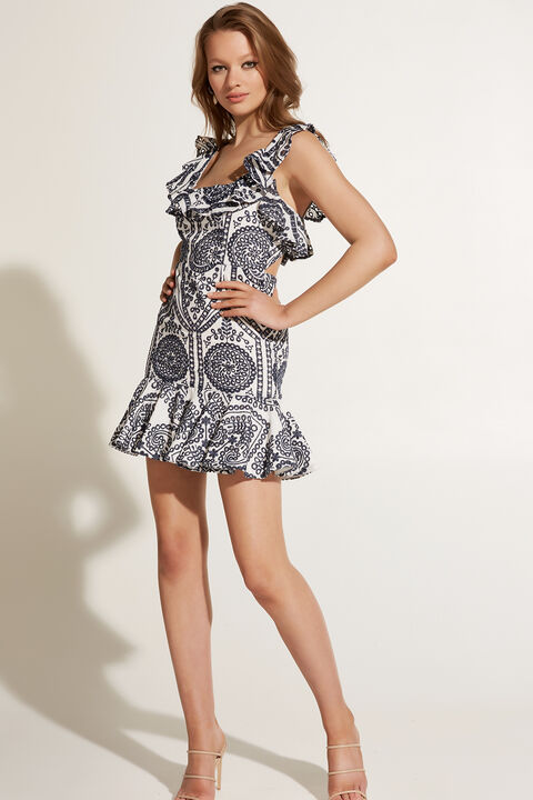 ELIZA MINI DRESS in colour TOTAL ECLIPSE