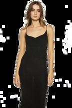 DANI LUREX KNIT DRESS in colour CAVIAR