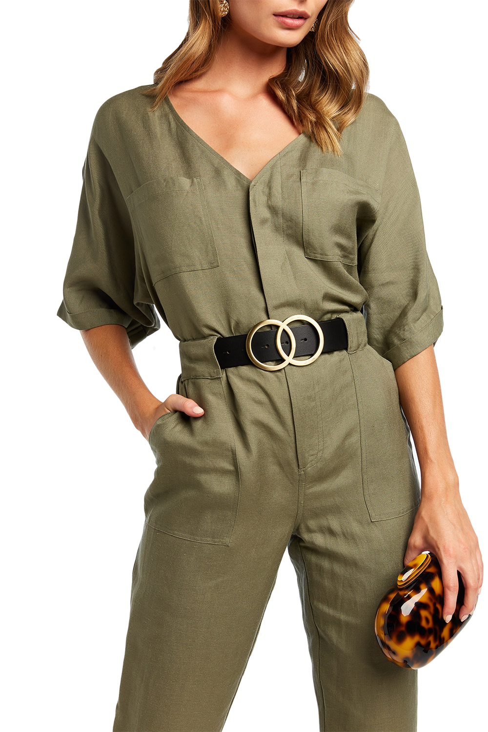 UTILITY JUMPSUIT in colour MOON MIST