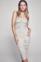 KYLIE DRESS in colour SILVER