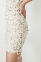 CINDY SWEETHEART DRESS in colour PASTEL YELLOW