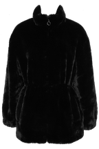 KARA FAUX FUR JACKET in colour CAVIAR