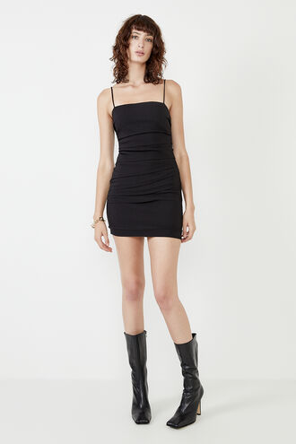 ROXANNE MINI DRESS in colour CAVIAR