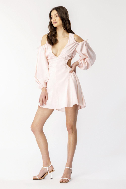 APOLLO MINI DRESS in colour SOFT PINK