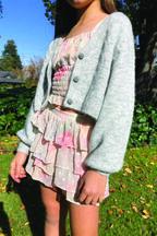 JUNIOR GIRL DOBBY GYPSY SKIRT in colour BIRCH
