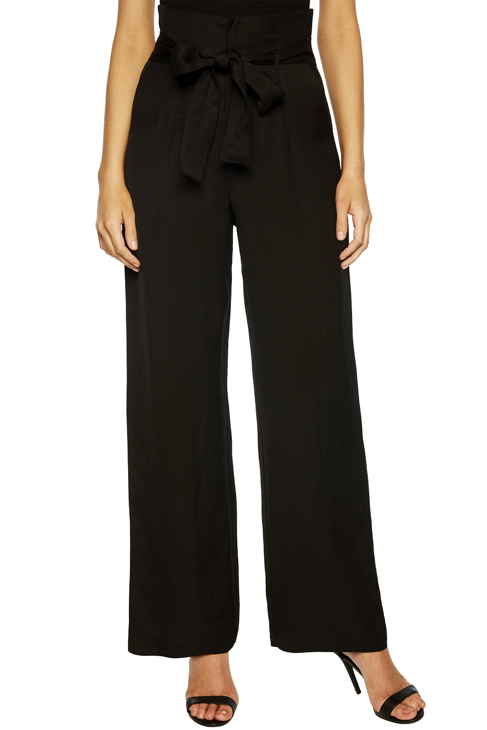 CHARLENE TIE PANT in colour CAVIAR