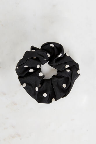 POKA DOT SCRUNCHIE in colour METEORITE