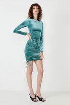VERA MINI DRESS in colour BLUE TURQUOISE