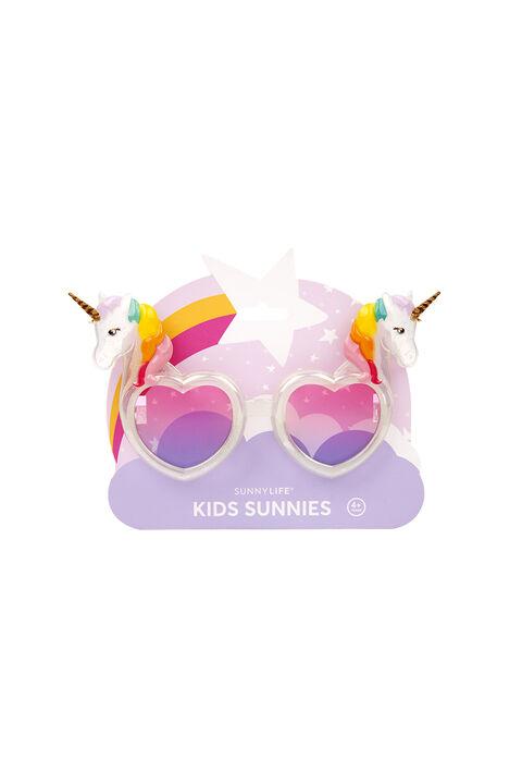 Unicorn Kids Sunnies in colour BRIGHT WHITE