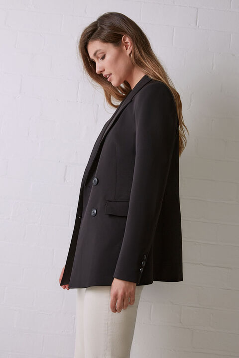 BRITT BLAZER JACKET in colour CAVIAR