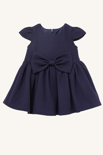 POLLY BOW DRESS in colour BLACK IRIS