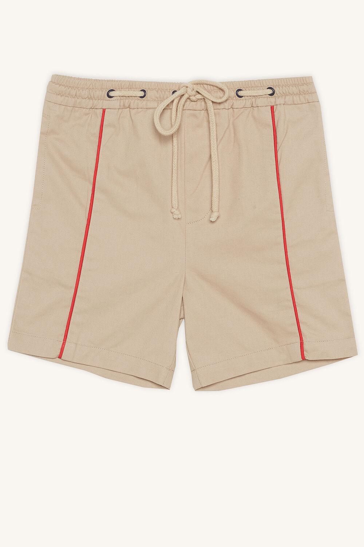 Tween Boy piped short in colour WHITECAP GRAY