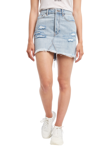 BEY DENIM SKIRT in colour SODALITE BLUE