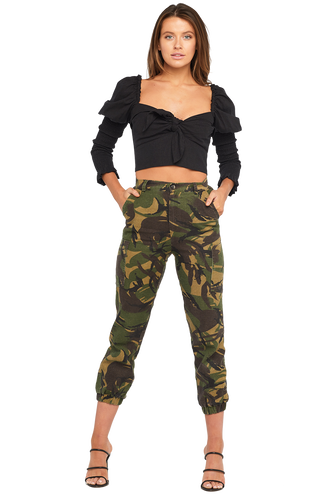 SAFARI CAMO PANT in colour CHIVE
