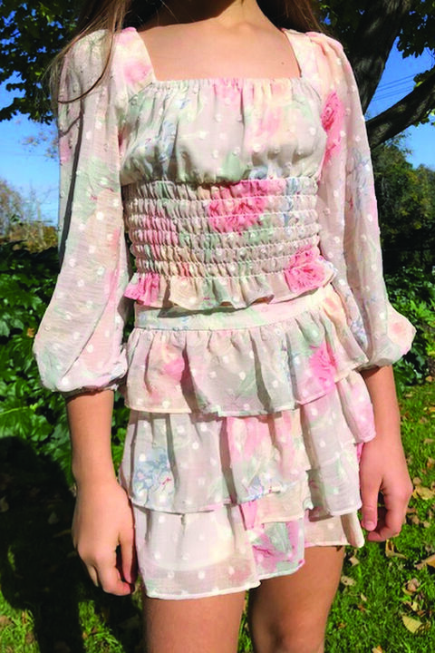 JUNIOR GIRL JULIANNA TOP in colour BIRCH