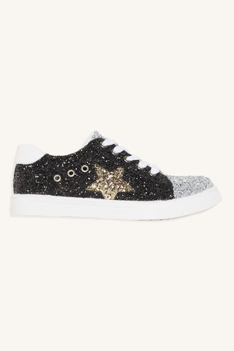 GLITTER STAR SNEAKER in colour BRIGHT WHITE