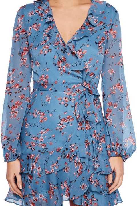 BLUE ROSE DRESS in colour SKY BLUE