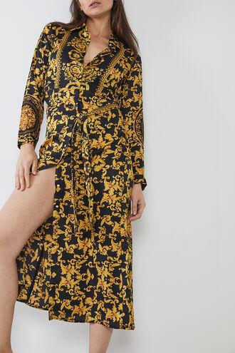 BAILEY SHIRT DRESS in colour BLACK BEAN