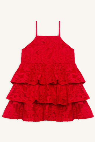 CARTIA TIER DRESS in colour LOLLIPOP