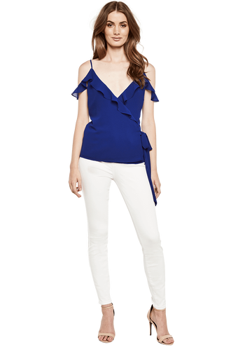 ADELINA WRAP TOP in colour SURF THE WEB