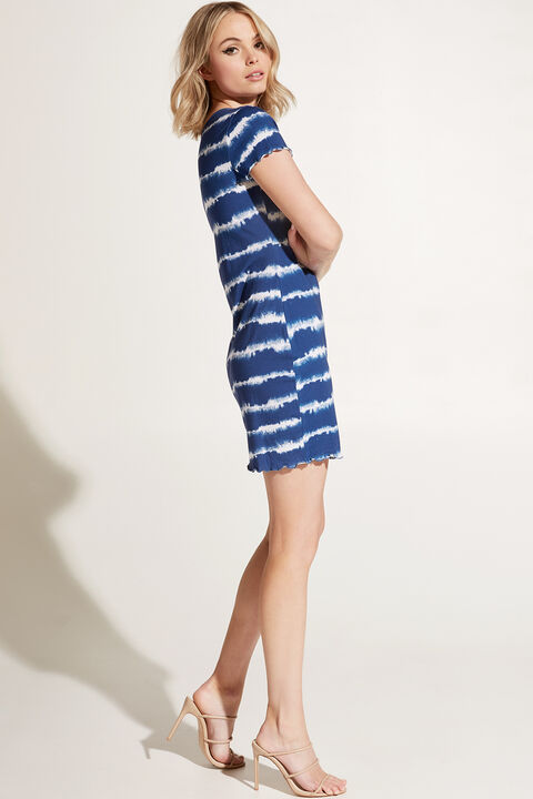 MINI T DRESS in colour BLUE DEPTHS