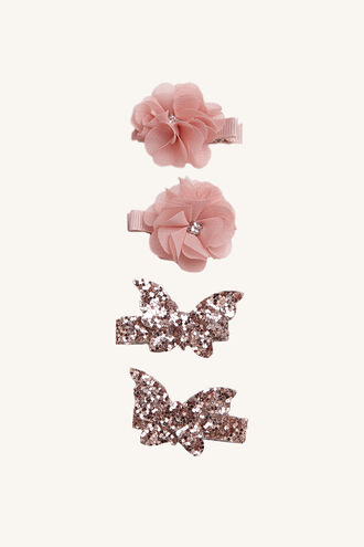 FLY FLOWER CLIPS in colour PINK CARNATION