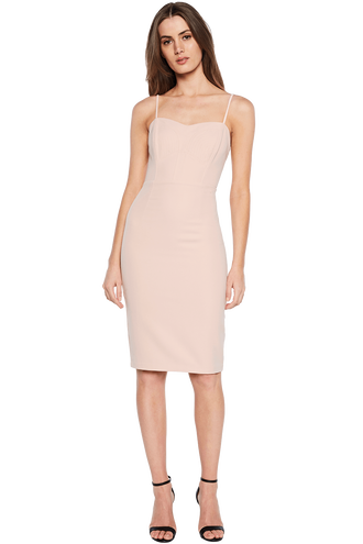 STELLA STITCH DRESS in colour PEACH BLUSH
