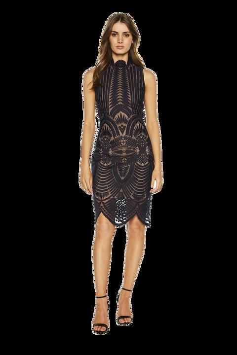 ALICE LACE DRESS. in colour ECLIPSE