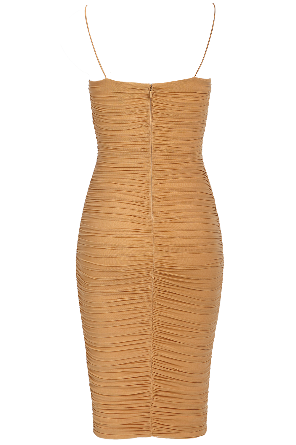 NAOMI DRESS. in colour RUGBY TAN