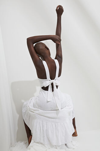 REIGN MAXI DRESS in colour CLOUD DANCER