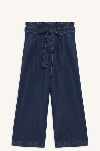 SANDY CROP PANT in colour CAPTAIN'S BLUE