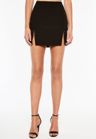 EMILIA MINI SKIRT in colour CAVIAR