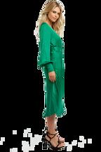 SANDIEGO MIDI DRESS in colour CLASSIC GREEN