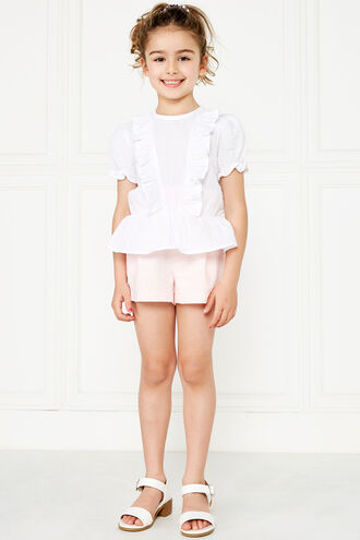 PIA RUFFLE TOP. in colour CLOUD DANCER