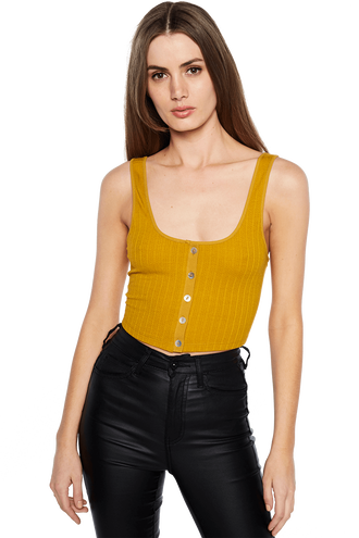 JENNA KNIT TOP in colour MISTED YELLOW
